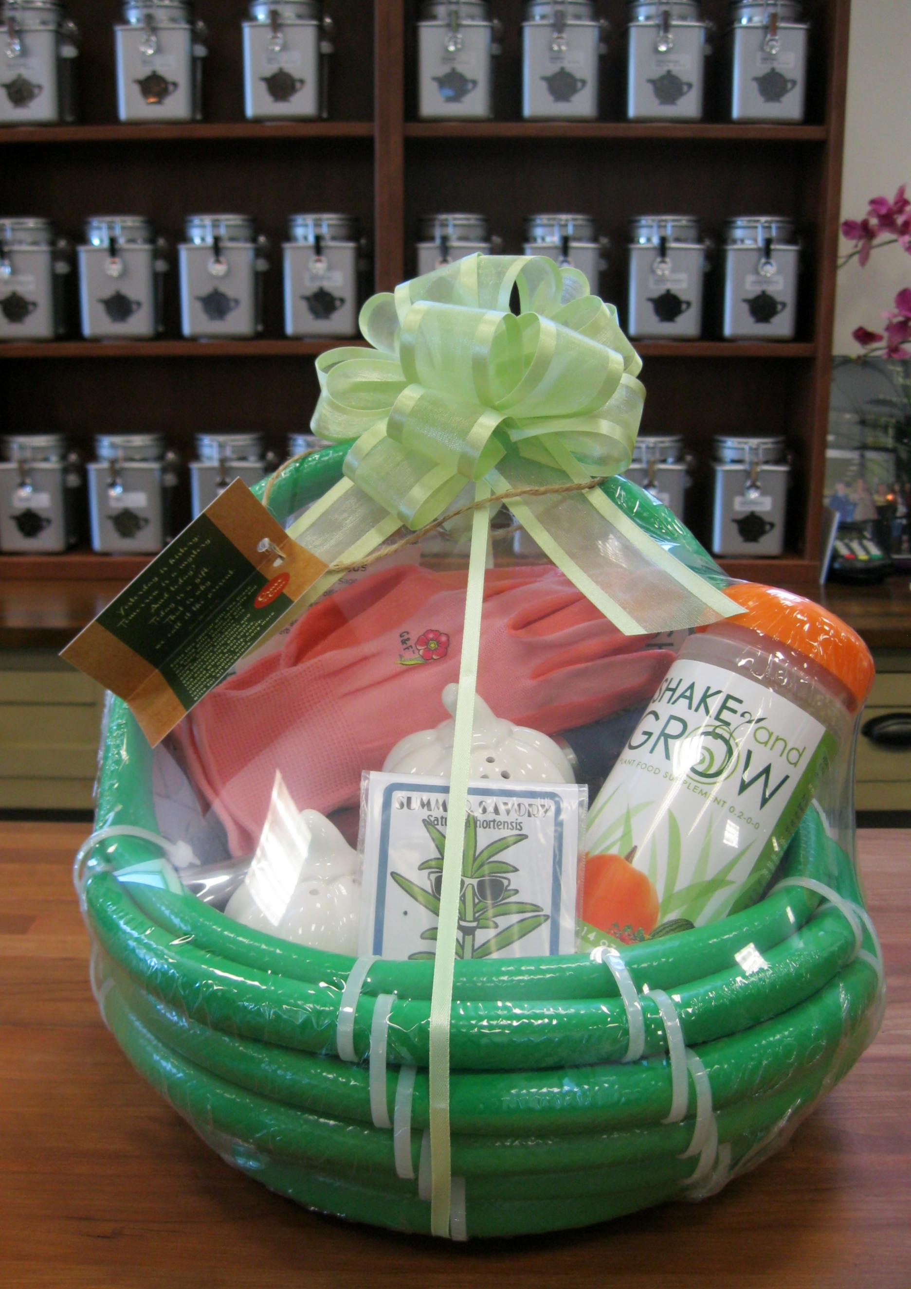 Garden Hose Gift Basket Shake and Grow
